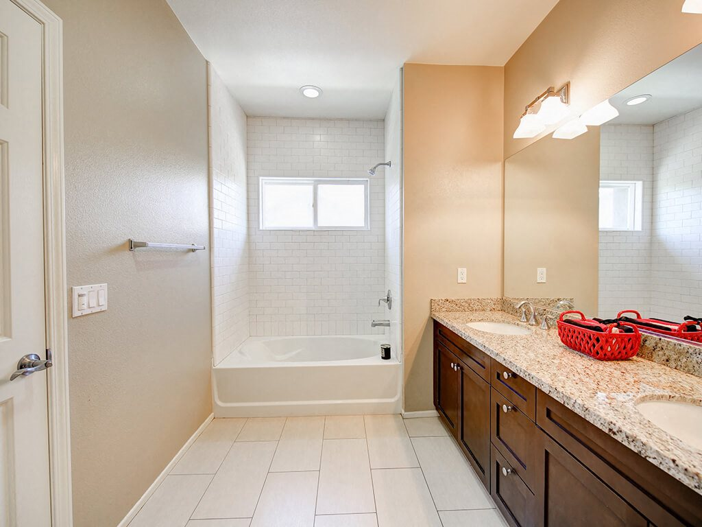 Spacious Bathrooms With Garden Tub at Ontario Town Square Townhomes, 380 East Bluebird Privado, CA