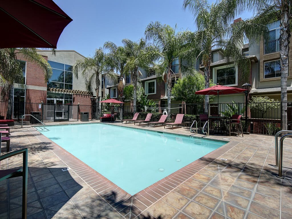 Sparkling Swimming Pool at Ontario Town Square Townhomes, California, 91764
