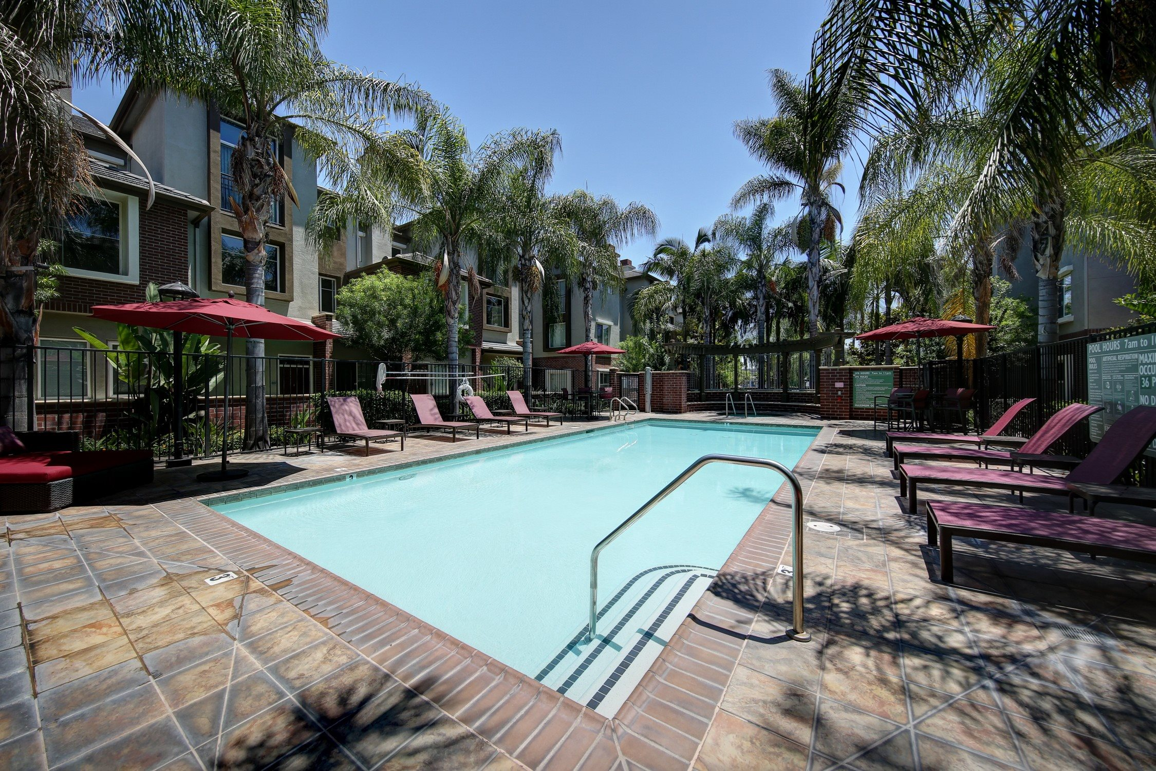 Resort-Style Pool at Ontario Town Square Townhomes, Ontario, 91764