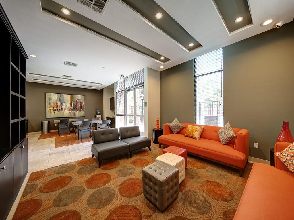 Newly Renovated Clubhouse at Ontario Town Square Townhomes, Ontario, CA