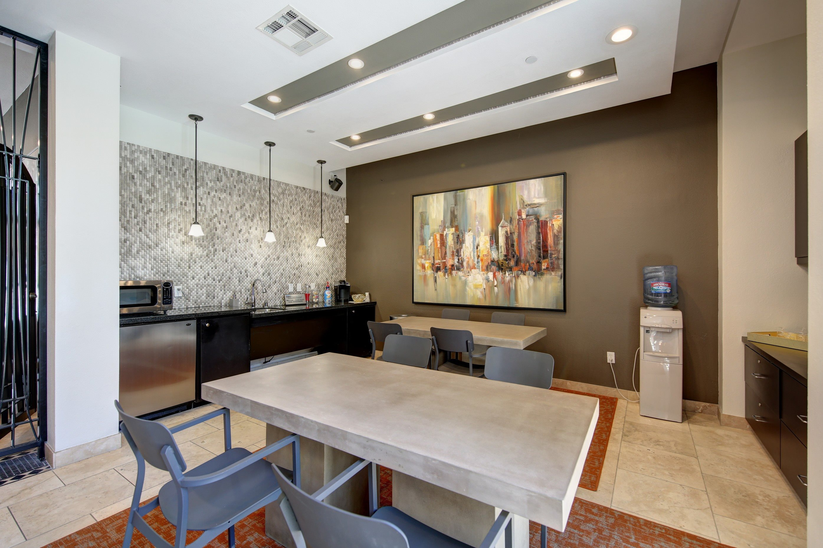 Coffee Bar and Hospitality Station at Ontario Town Square Townhomes, Ontario, 91764