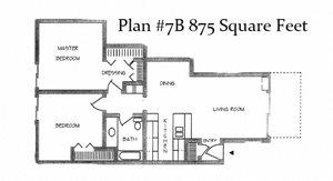 Two Bedroom Plan 7B
