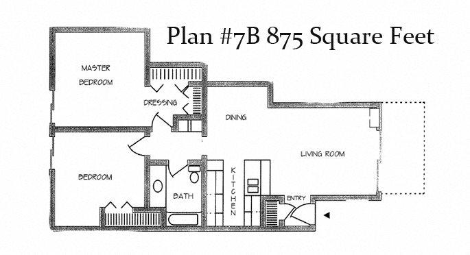 Two Bedroom Plan 7B Floor Plan 6