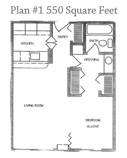 Studio Plan 1 Floor Plan 1