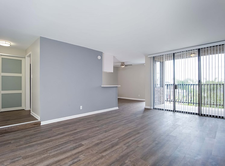 Glass Door in Living Room For Natural Light at El Patio Apartments, Glendale