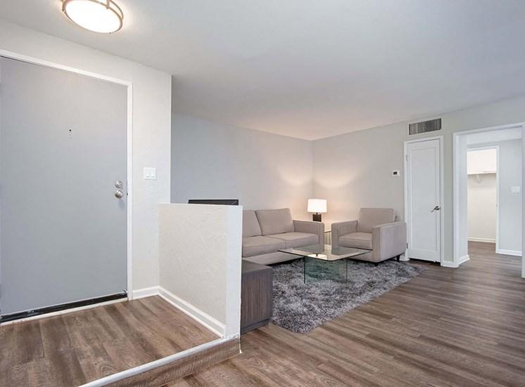 Sofa In Living Room at El Patio Apartments, Glendale