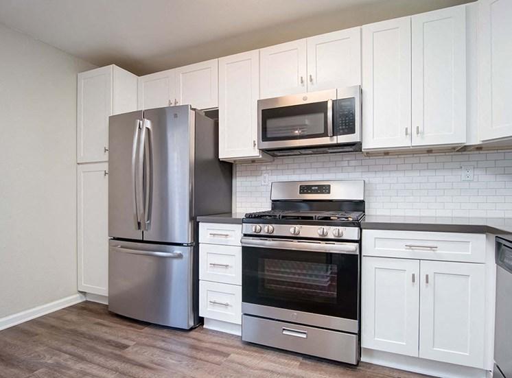 Fridge In Kitchen at El Patio Apartments, California