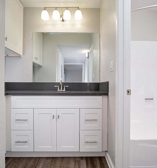 Dual Vanity Sinks at El Patio Apartments, California