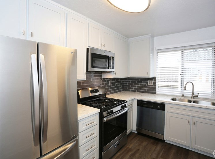 Windows in all kitchens at El Patio Apartments, Glendale, CA