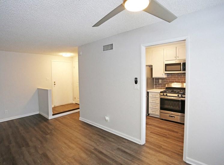 Living room at El Patio Apartments, Glendale, California