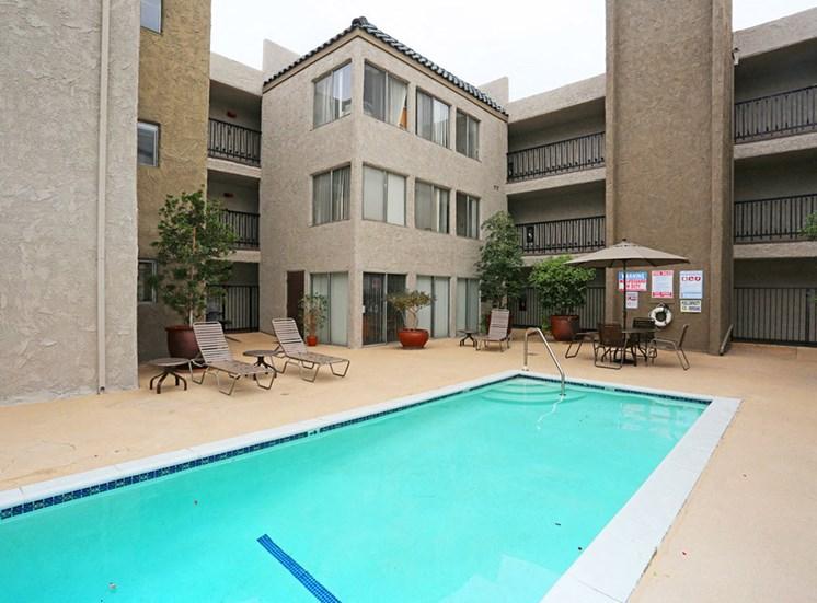 Large Swimming Pool at El Patio Apartments, California, 91207