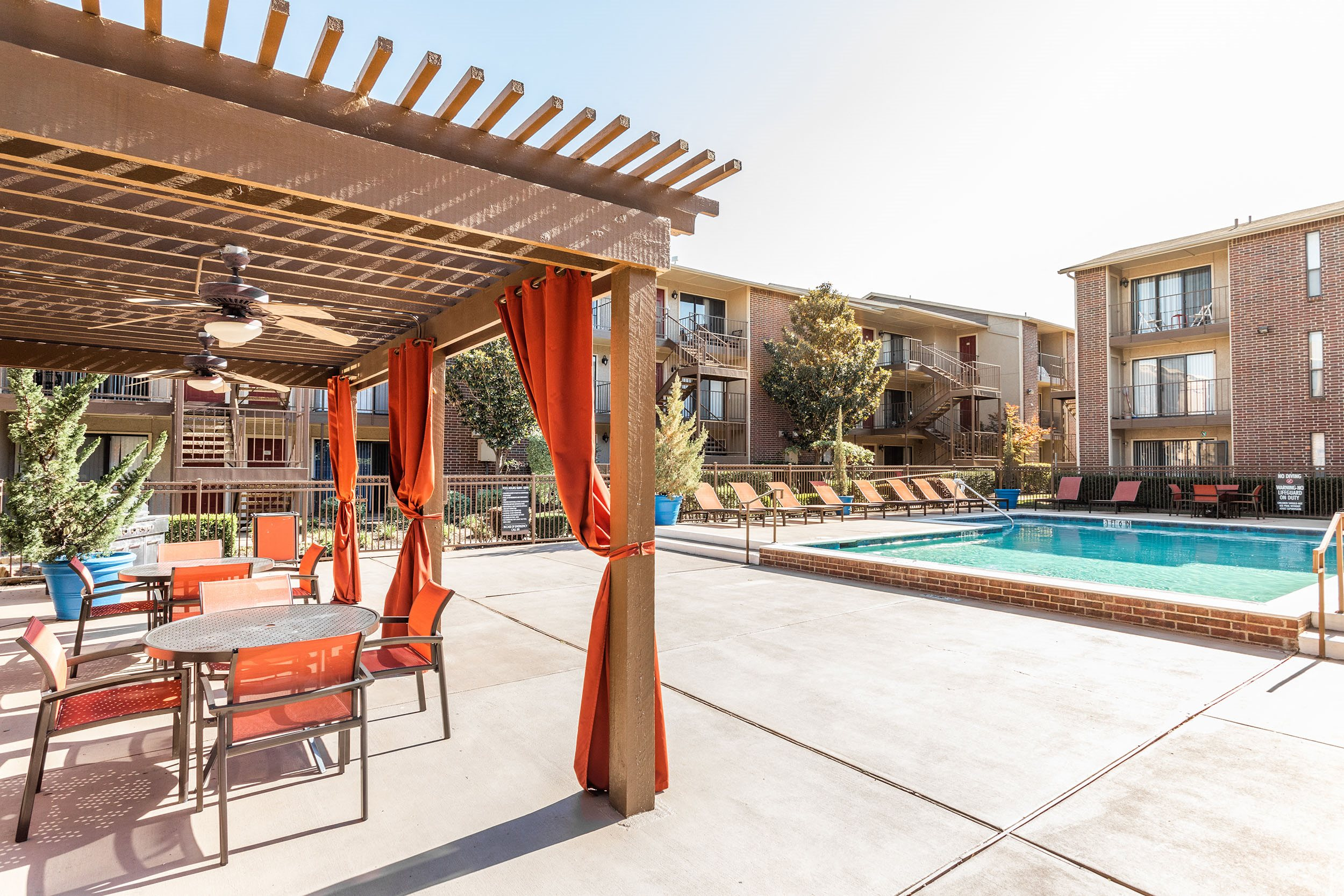 Cabana, Pool and Sundeck View - Vue at Knoll Trail Apartments