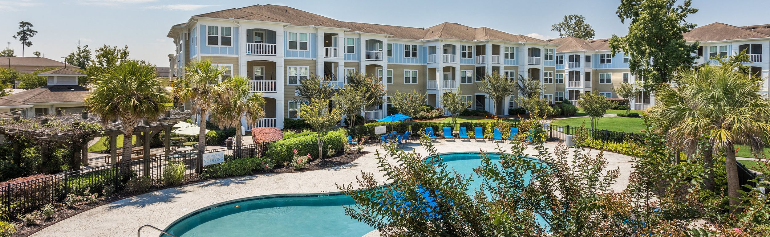 Poolside Sundeck with Balconies Overlooking - St James at Goose Creek