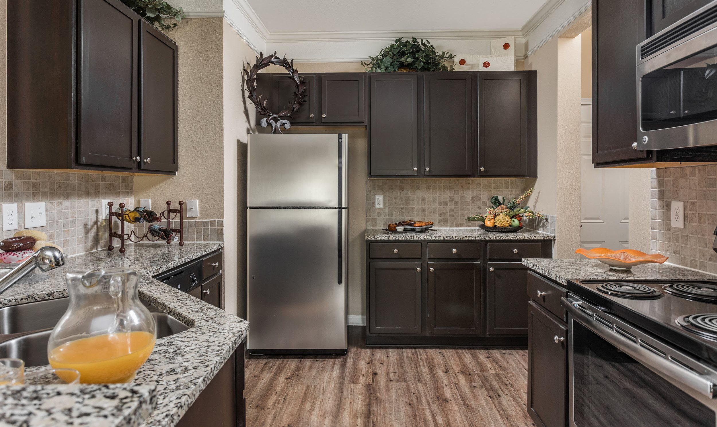 Spacious Kitchen View - Waterstone at Brier Creek Apartments