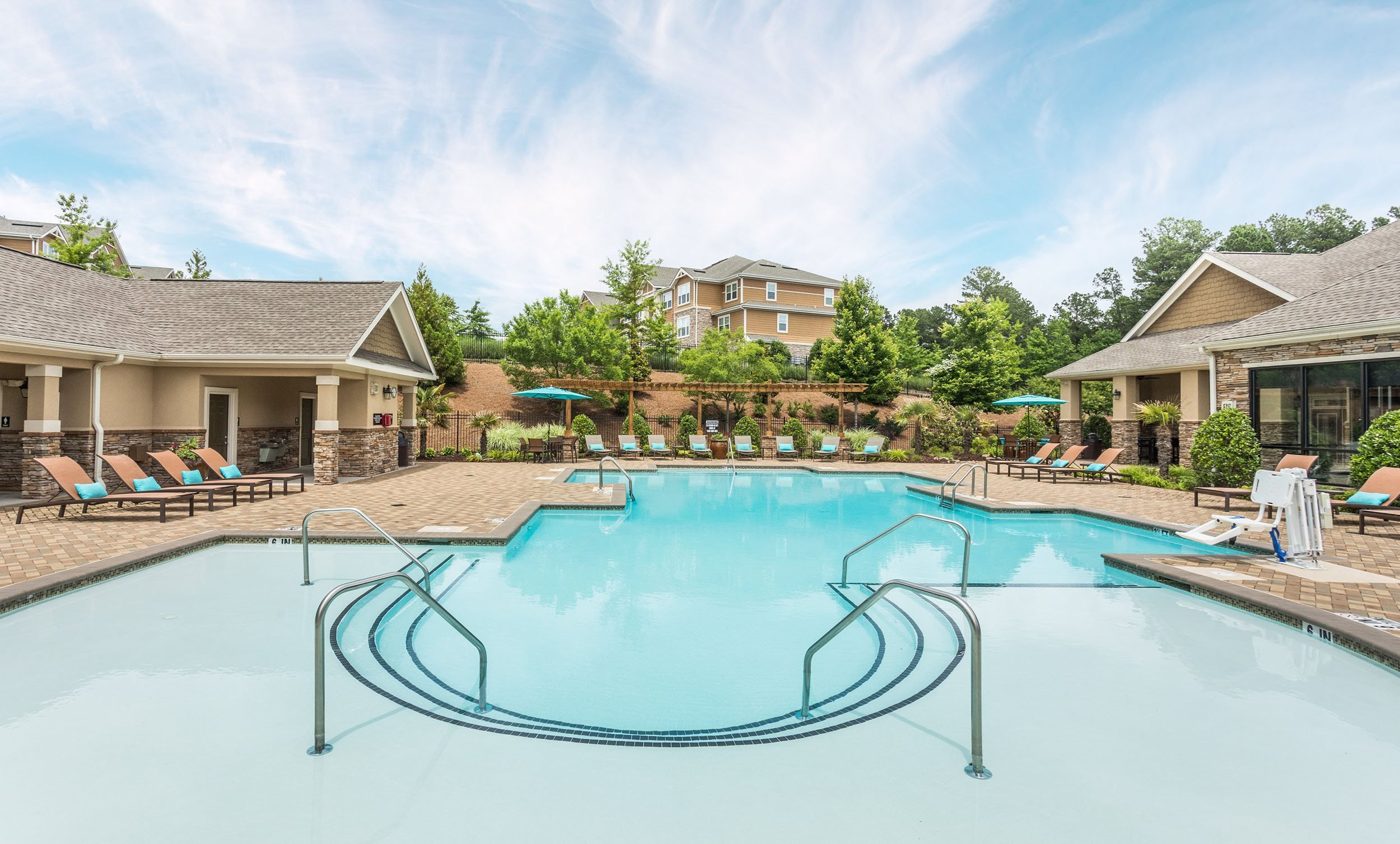 Swimming Pool and Sundeck - Waterstone at Brier Creek Apartments