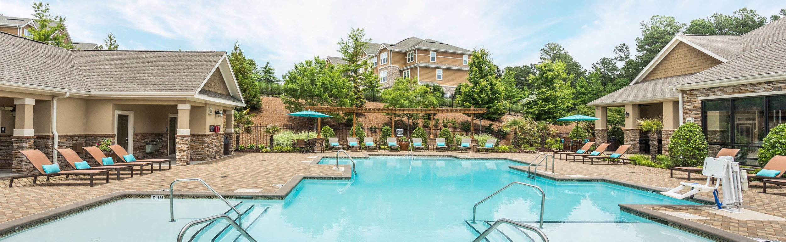 Swimming Pool, Sundeck and Clubhouse - Waterstone at Brier Creek