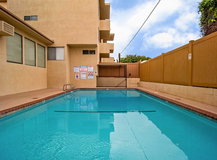 In-Door swimming pool at Los Robles Apartments, California