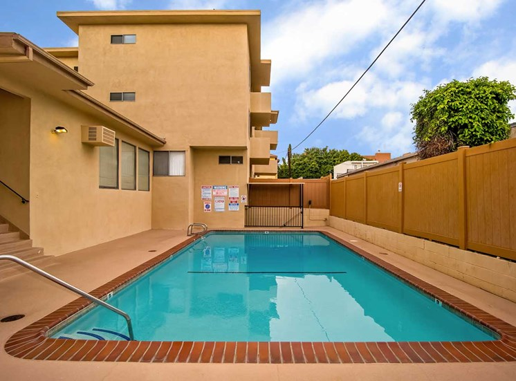 Courtyard In-Door swimming pool at Los Robles Apartments, California, 91101