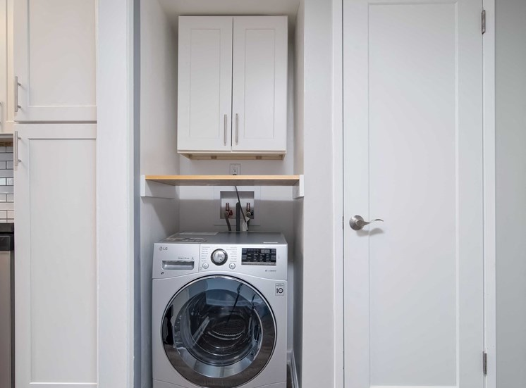 Bright Laundry Room at Los Robles Apartments, California