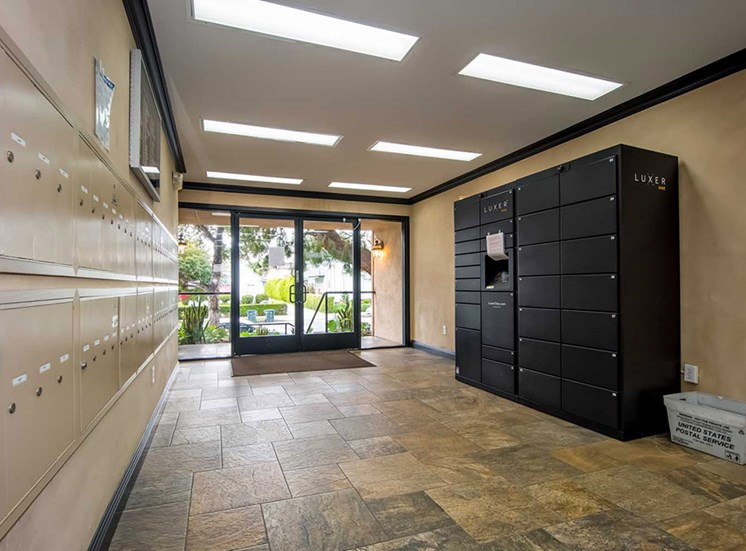 In-Door Mail Center at Los Robles Apartments, Pasadena, CA