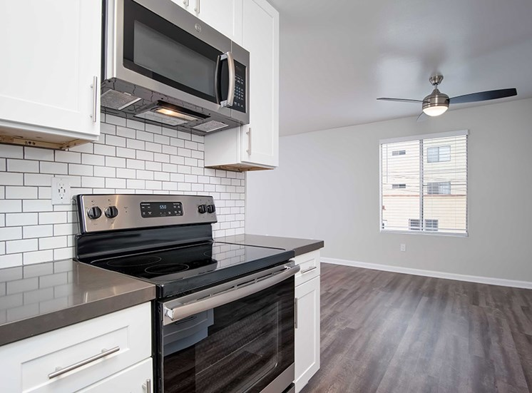 Eat-In Kitchen at Los Robles Apartments, Pasadena