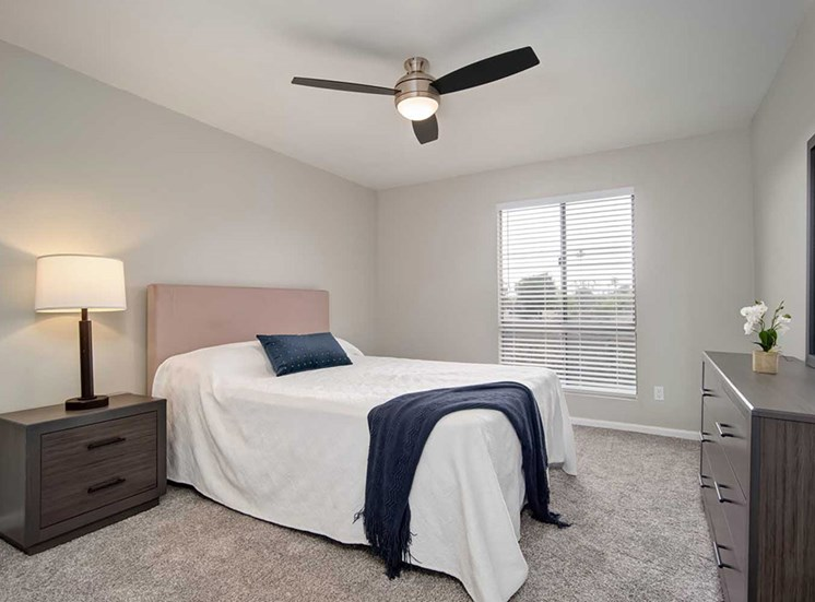 Comfortable Bedroom at Los Robles Apartments, Pasadena, California