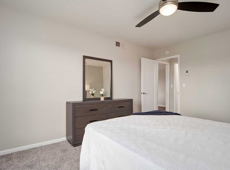 Bedroom Interior at Los Robles Apartments, California