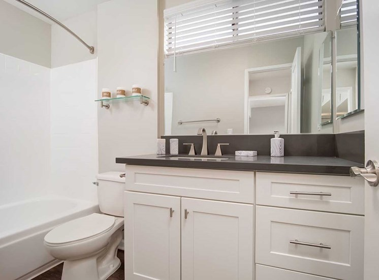 Master Bath Mirror at Los Robles Apartments, Pasadena, CA, 91101