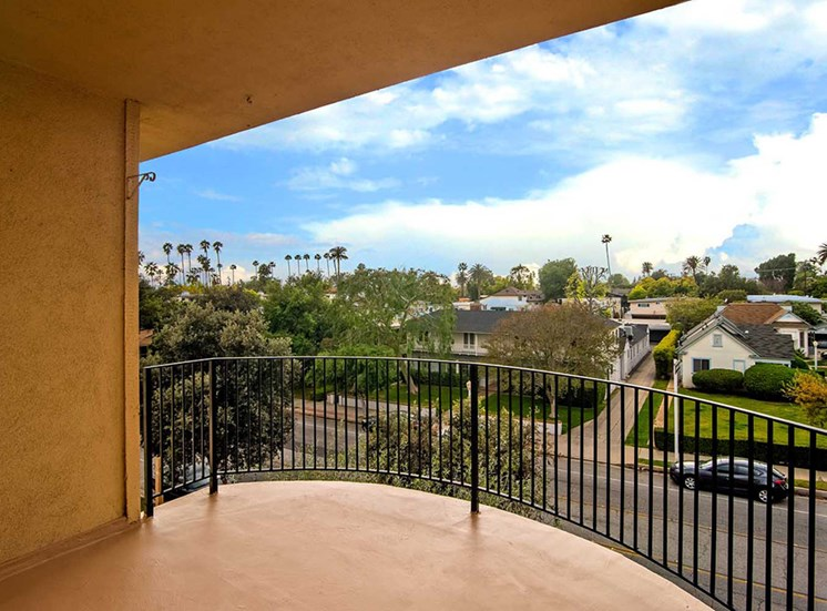 Sky View From Balcony at Los Robles Apartments, Pasadena, CA