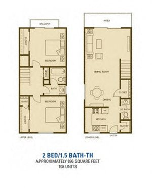 Newport  Floorplan at Woodlands West Townhomes 93536