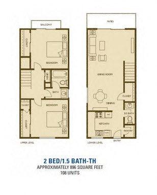 Newport  Floorplan at Woodlands West Townhomes 93536
