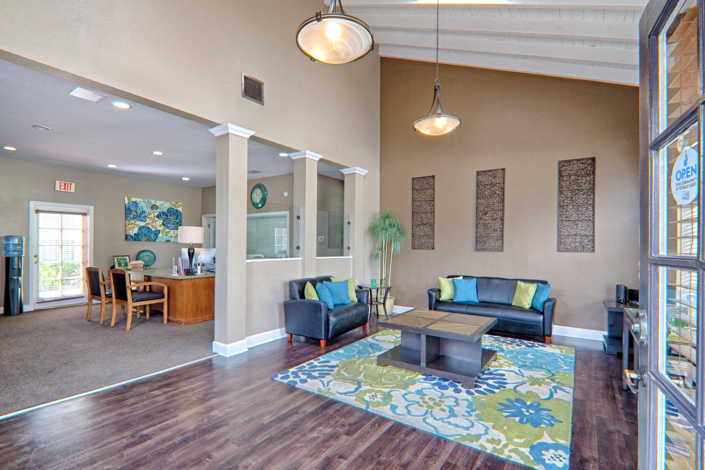 Leasing Lobby at Cordova Park Apartment Homes, Lancaster, CA