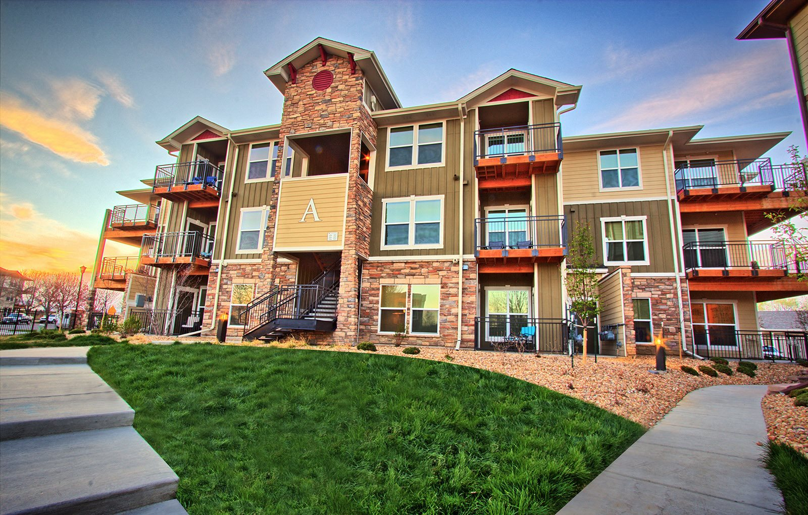 Apartment Building Exterior in Longmont