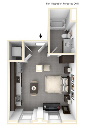 The Morton - Floor Plan 3D