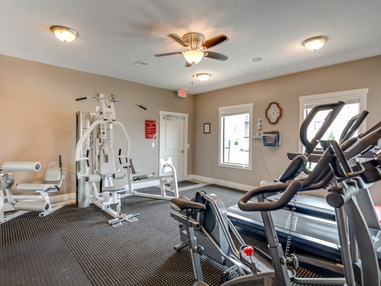 24 Hour Gym at The Hills Apartments in North Kansas City, MO
