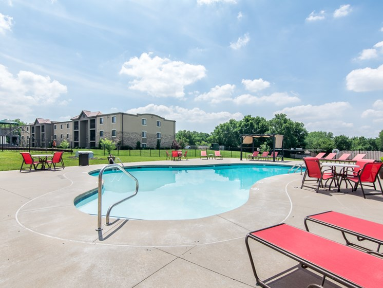 Best pool at The Hills Apartments in North Kansas City, MO