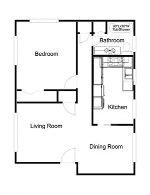 1-Bedroom, 1-Bathroom (2)