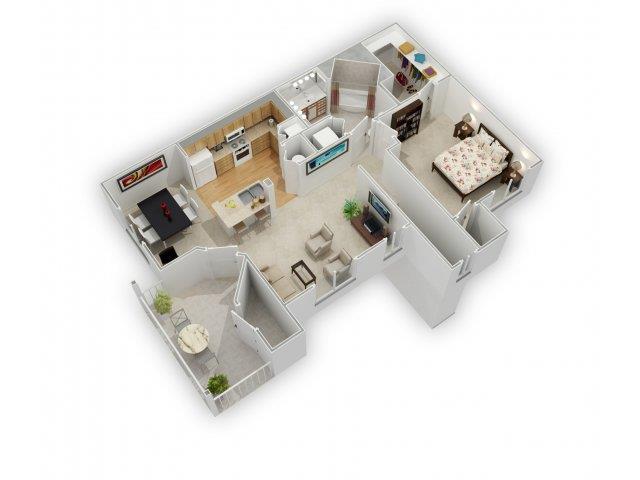 Dogwood II Floorplan at Farmington Lakes Apartments Homes, Oswego, IL, 60543