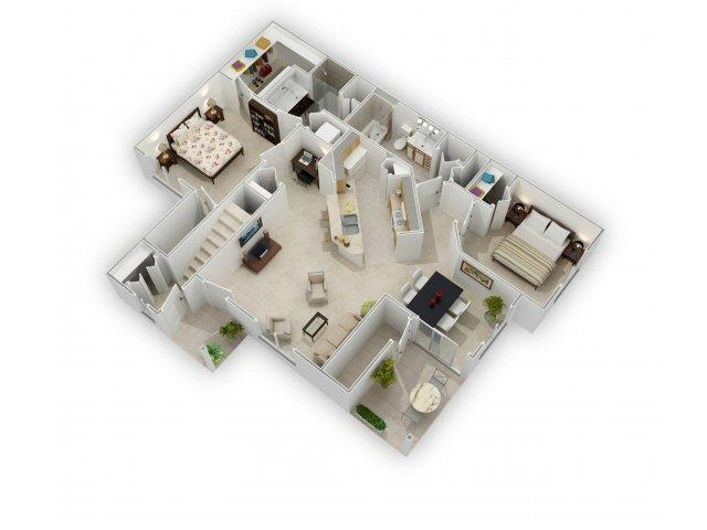 Willow Floorplan at Farmington Lakes Apartments Homes, Oswego, IL, 60543
