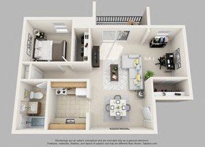 Wicklow- 1 Bedroom with Den
