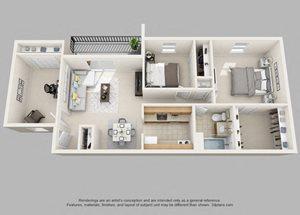 Wicklow- 2 Bedroom with Den