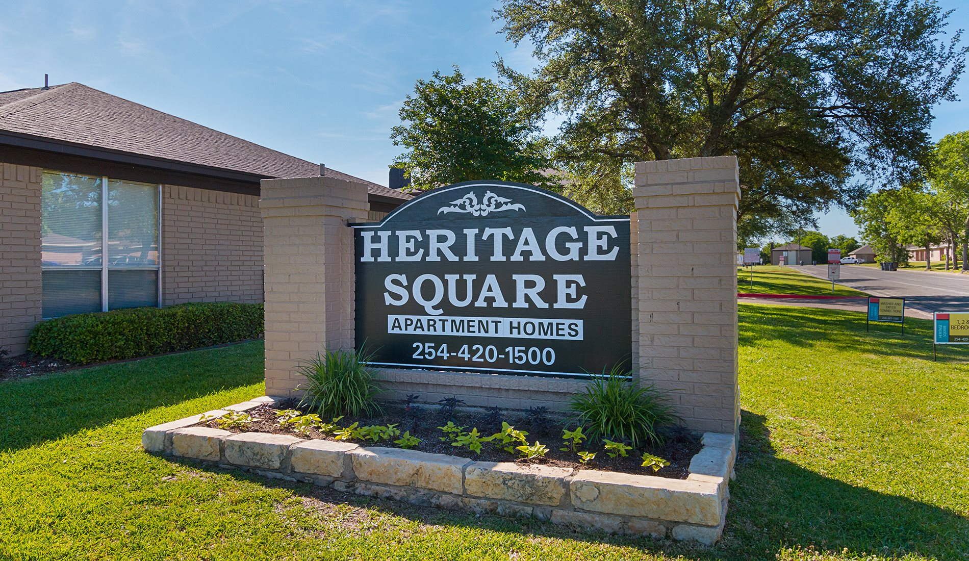 Main Signage at Heritage Square Apartment Homes, Waco, Texas, TX