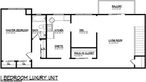 1 BR Luxury 1,051 sq.ft.