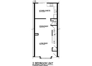 2 BR Townhouse with basement 2,016 sq.ft.