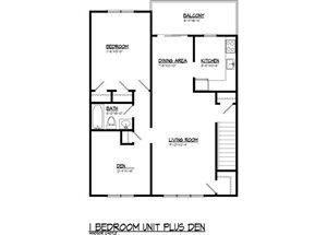 1 BR Plus Den 921 sq.ft.