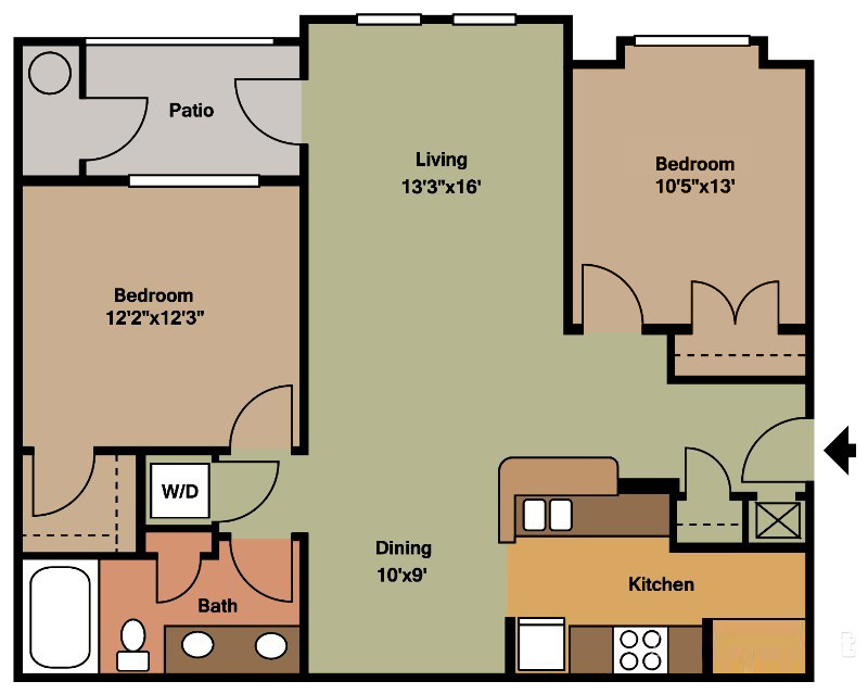 The Marshall (Traditional) Floorplan at Ultris Courthouse Square