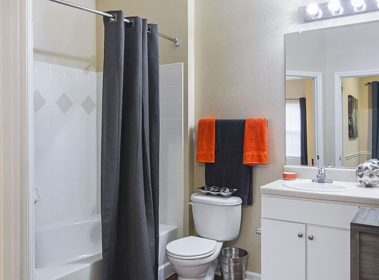 Model Bathroom at Ultris Courthouse Square Apartments in Stafford, Virginia, VA