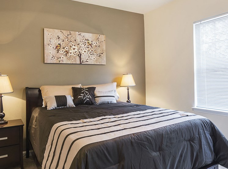 Furnished Guest Bedroom at Ultris Courthouse Square Apartments in Stafford, Virginia, VA