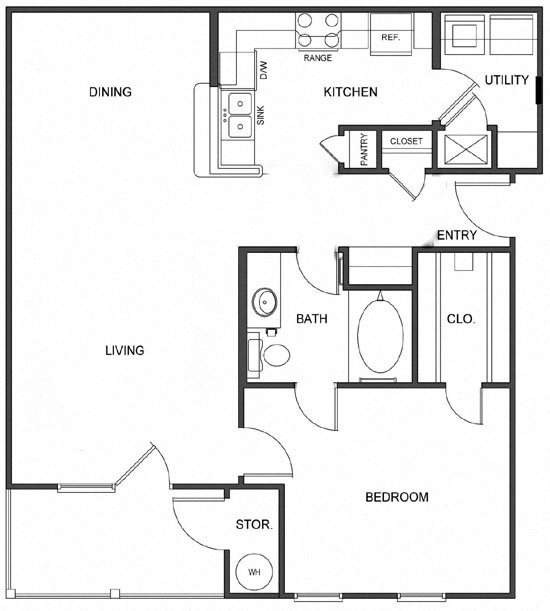 A1 (Corporate) Floorplan at Ultris Island Park
