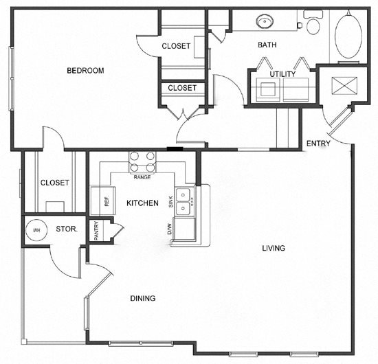 A2 (Corporate/Furnished) Floorplan at Ultris Island Park